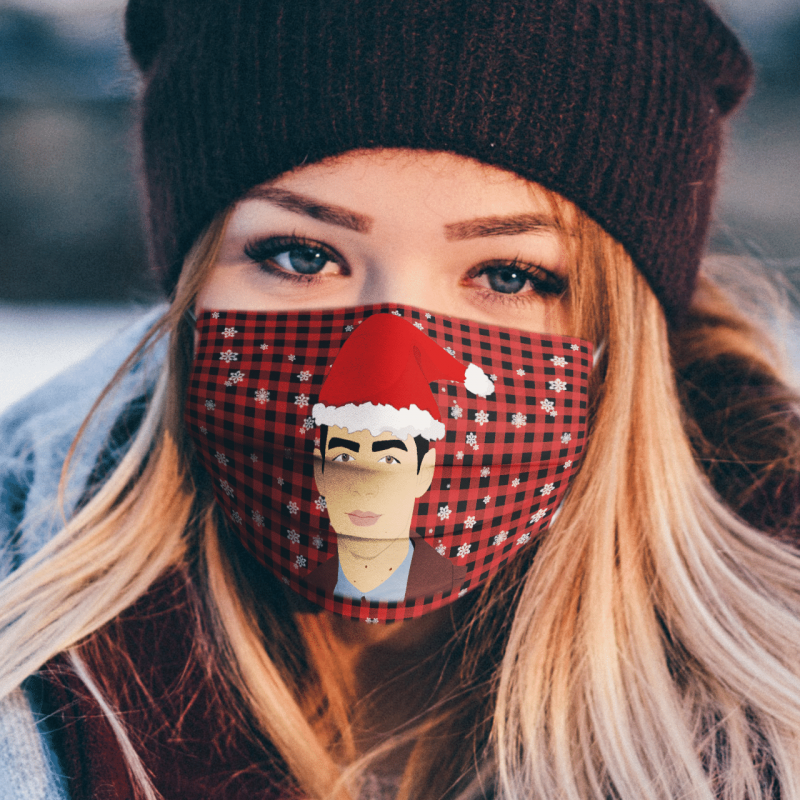 Joe Jonas Merry Christmas Face Mask Washable, Machine Washable, Waterproof, Breathable Mask Cover
