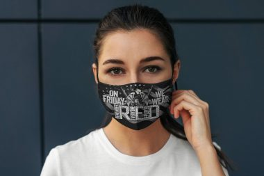 On Friday We Wear Remember Everyone Deployed Washable Reusable Cloth Face Mask