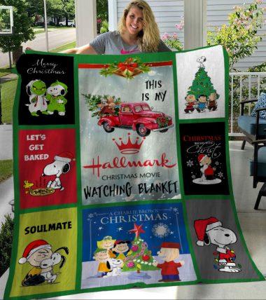 This Is My Hallmark Christmas Movie Watching Snoopy BT Fleece Blanket