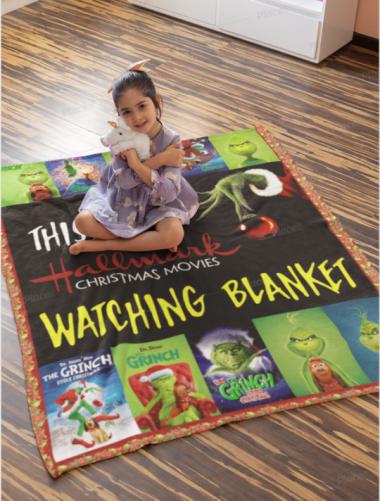 This Is My Hallmark Christmas Movies Watching Blanket Grinch Fleece Blanket