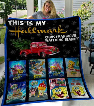 This Is My Hallmark Christmas Movies Watching Blanket SpongeBob SquarePants Fleece Blanket