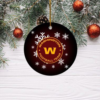 Washington Football Team Christmas Circle Ornament