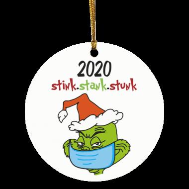 Stink Stank Stunk Grinch Face Mask Christmas Ornament