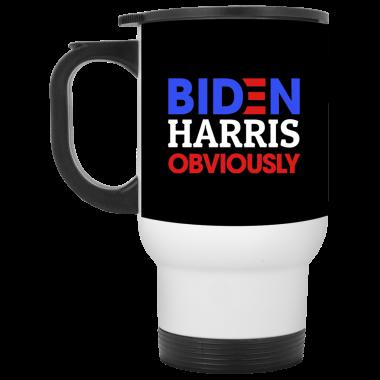 Biden Harris Obviously 2020 Democrat President Mug, Travel Mug