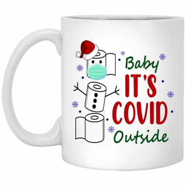 Baby It's Covid Outside Christmas Coffee Mug, travel Mug