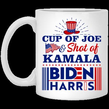Cup Of Joe And Shot Of Kamala Biden Harris Coffee Mug, travel Mug