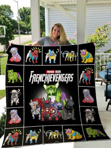 French Bulldog Avengers Quilt Blanket