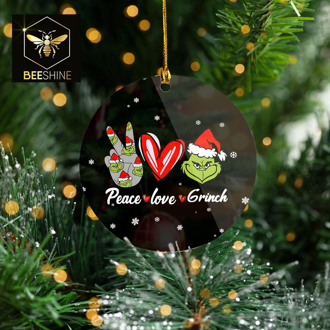 Grinch Christmas  2020 Peace Love Grinch Funny Grinch Christmas