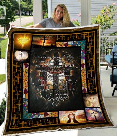 Jesus In My Heart Quilt Blanket