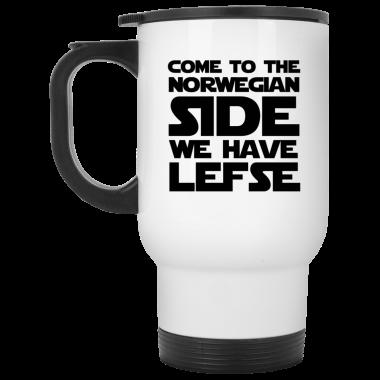 Come To The Norwegian Side We Have Lefse Mug, Coffee Mug, Travel Mug