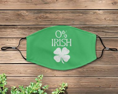 0% IRISH St Patrick's day Gift Funny Face Mask