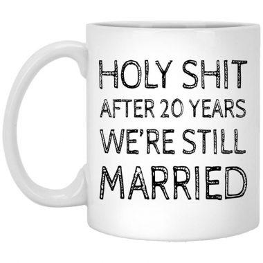 20th Anniversary Coffee Mug, Travel Mug