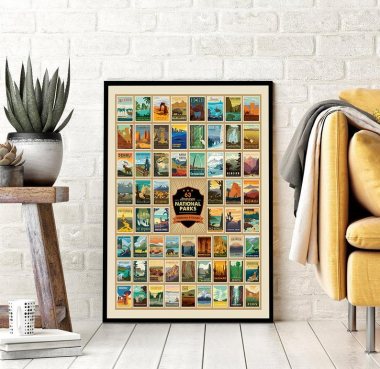 63 American National Parks Wilderness And Wonder Poster