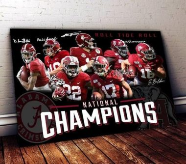 Alabama crimson tide national champions best players signed for fan poster poster canvas