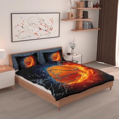 Basketball Fire And Water Art Bedding Set