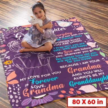 Blanket For Granddaughter - I Pray That You Are Safe, Well And Happy - Blanket 1