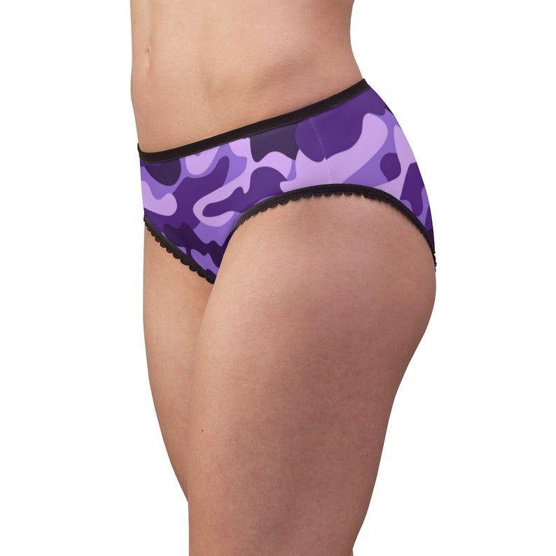 Camouflage Purple Military Camo Women's Briefs Underwear