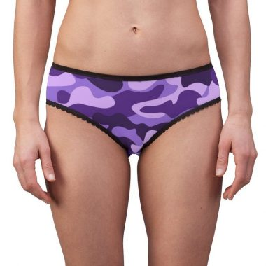 Camouflage Purple Military Camo Women's Briefs Underwear