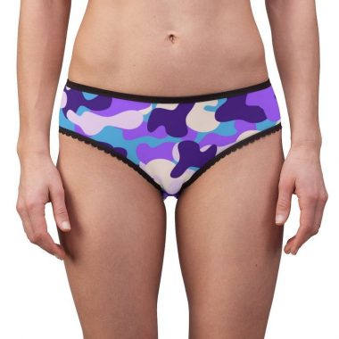 Camouflage Purple Violet Blue Military Camo Women's Briefs Underwear