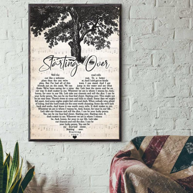 Chris Stapleton - Starting Over lyrics poster