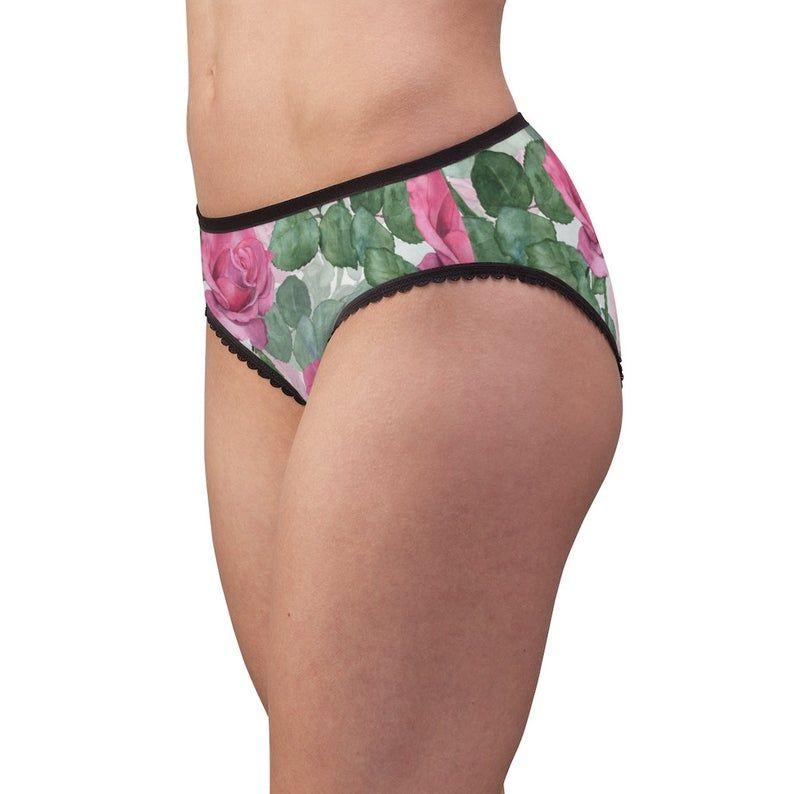 Pink Rose Garden Vintage Look Women's Briefsunderwear Panties