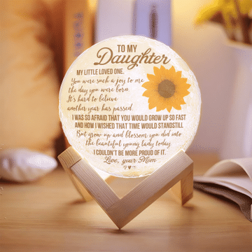 To My Daughter My Little Loved One You Were Such A Joy To Me Moon Lamp