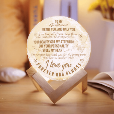 To My Girlfriend I Want You And Only You All Of Me Loves All Of You Moon Lamp 1