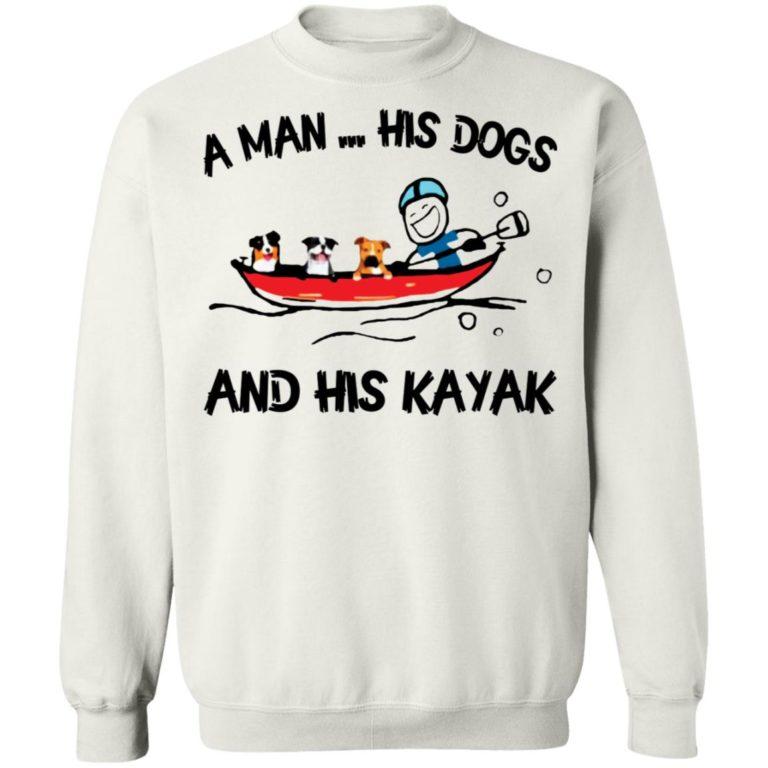 A Man His Dog And His Kayak Shirt