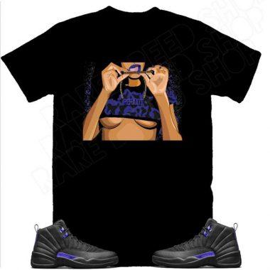 AIR Jordan 12 dark concord Sneaker Tee, Retro 12 Black Black Concord Bout Periodt Shirt