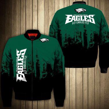 Aguilas De Philadelphia Eagles Football Team Chaqueta De Bombardero De La Bomber Jacket Size S-5XL