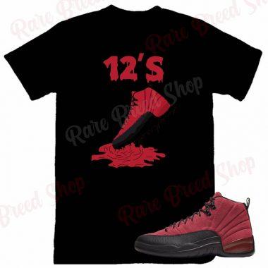 Air Jordan Retro 12 Reverse Flu Game 12's Sneaker T-shirt