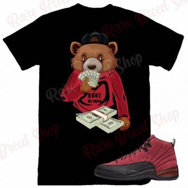 Air Jordan Retro 12 Reverse Flu Game Bout My Paper Sneaker T-shirt