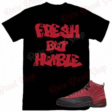 Air Jordan Retro 12 Reverse Flu Game Fresh But Humble Sneaker T-shirt
