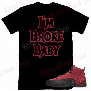 Air Jordan Retro 12 Reverse Flu Game I'm Broke Baby Sneaker T-Shirt