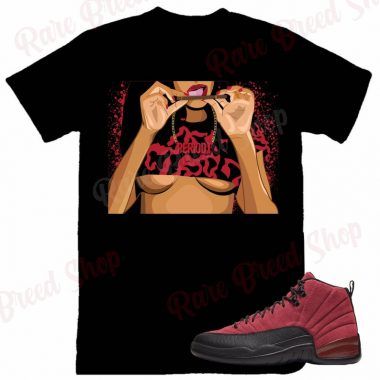 Air Jordan Retro 12 Reverse Flu Game Periodt Sneaker T-shirt