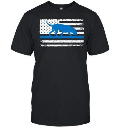 American Flag Bloodhound K9 Police Thin Blue Shirt