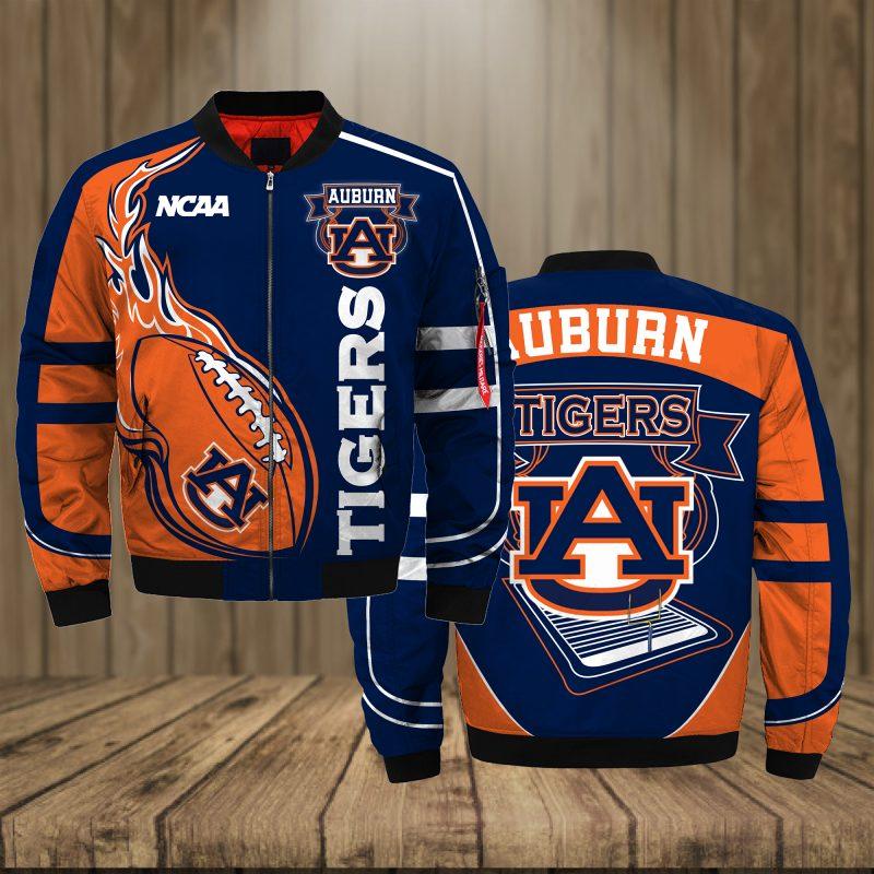 Auburn Tigers Basketball team NCAA Orange Bomber Jacket Apparel Bomber Jacket Size S-5XL