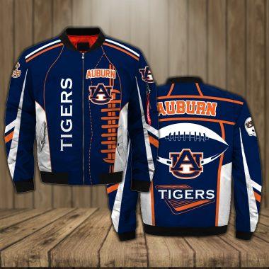 Auburn Tigers Football team NBA Basketball MLB Baseball NCAA Bomber Bomber Jacket Size S-5XL