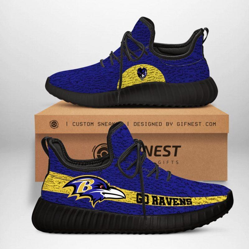Baltimore Ravens NFL Yeezy Boost 350 V2 Sneaker