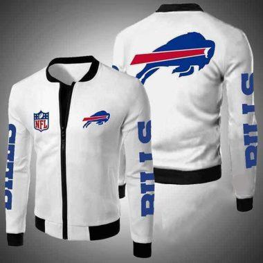 Buffalo Bills Nfl Bomber Jacket, Fleece Hoodie Size S-5XL