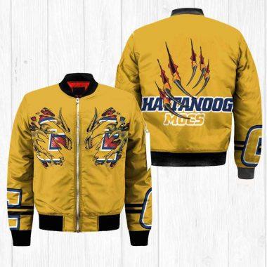 Chattanooga Mocs NCAA Claws Black Bomber Jacket, Fleece Hoodie Size S-5XL