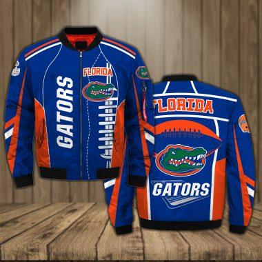 Florida Gators Basketball team NCAA blue Bomber Jacket Apparel Bomber Jacket Size S-5XL