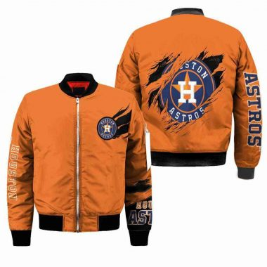 Houston Astros Mlb Bomber Jacket, Fleece Hoodie Size S-5XL