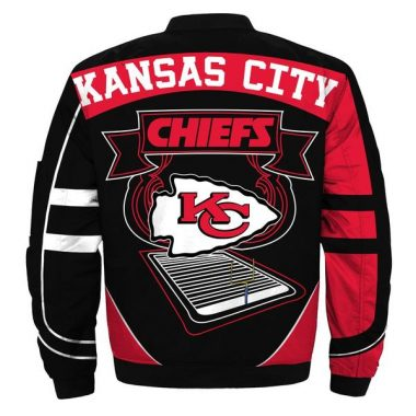 Kansas City Chiefs Starter NFL Bomber Jacket Size S-5XL