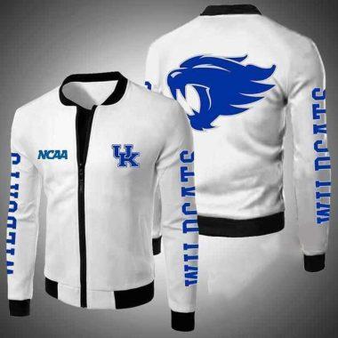 Kentucky Wildcats Ncaa Bomber Jacket, Fleece Hoodie Size S-5XL