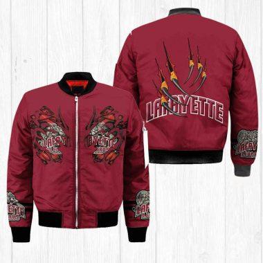 Lafayette Leopards NCAA Claws Black Bomber Jacket, Fleece Hoodie Size S-5XL
