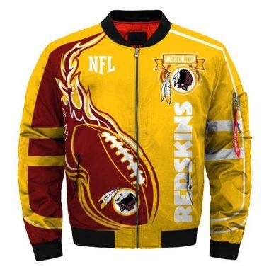Latest Design 2019 NFL Bomber Jacket Custom Washington Redskins Starter Jacket Bomber Jacket Size S-5XL