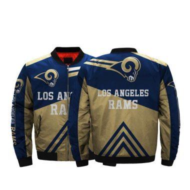 Low Price NFL Jackets 3D Fullprint Los Angeles Rams Bomber Jacket For Men Bomber Jacket Size S-5XL