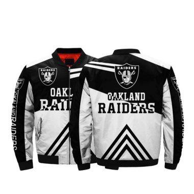 Lower Price NFL Jacket Men Oakland Raiders Bomber Jacket For Sale Bomber Jacket Size S-5XL