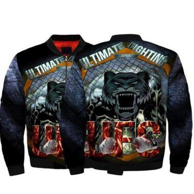 Men UFC Jackets UFC MMA Fighting Fierce Tiger Bomber Jacket Streetwear Flight Coat Bomber Jacket Size S-5XL